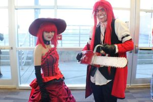 Ohayocon Grell and Madame Red by JoeZep5