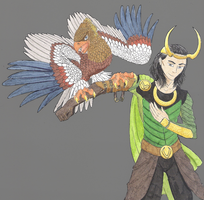 Loki and Hawk by Diva-Iana
