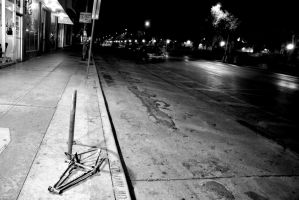 Lonely night on Guadalupe St by nonojoe