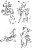 Renamon all4 sketch by Inspectornills