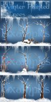 Winter Trees png by moonchild-ljilja