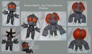 Spooky-Psychic-Floaty-Gas-Masked Plushies by DonutTyphoon