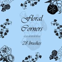 Floral corners by rL-Brushes