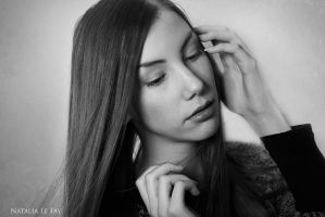 Natural Red Beauty III BW by NataliaLeFay
