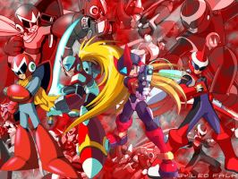 Tribute to Zero and Protoman by leofalcao