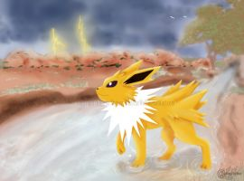 Roaming Thunder - Jolteon by RonTheWolf