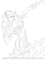 Zyra Lineart by HatterMadness