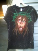the shirt I painted by HugAttack4JesusXD