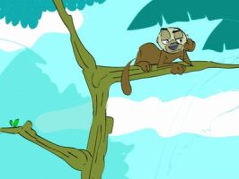 Tayra climbing down tree by Nukilik