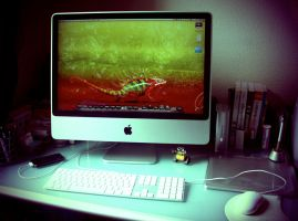 My desk in Lomo style. by im-a-pixel-pusher
