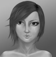 grayscale girl by Bariarti