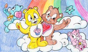 Colorful-Care-a-ful bears by spongefox