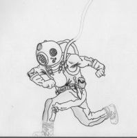 Deep sea diver by VectrGrisham