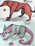 Rem and Tod Reference Sheet by Orlint
