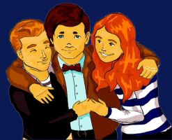 The Doctor, Rory and Amy 2 by EvilPurpleChicken