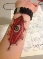 Eye/Open Wound Tattoo by Bored-In-Science