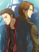 Dean and Sam Winchester by CT05