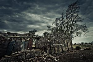 Remains of the Ghost Town by xAgNO3x