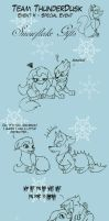 Team Thunderdusk - Snowflake Gifts by beatrizearthbender