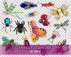 Insect Jewelry PNGs by Bellacrix