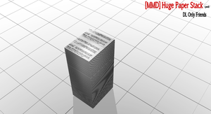 [MMD]Huge Paper Stack by LoverCathy