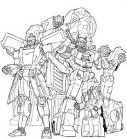 tf gn autobot cast lineart by beamer
