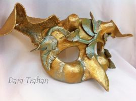 Gold Wild Imp Mask by Dara Trahan by DaraGallery
