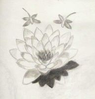 water lily tattoo by malgal2k1