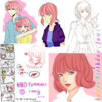 Happy Birthday, Fumi!!! 13-11-2013 by shieonn