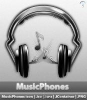 MusicPhones icon by MDGraphs