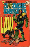 Judge Dredd aged by angryrooster