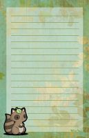 Raccoon Stationery by melissah84