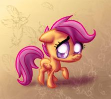 Scootaloo Scrunchface by Rainspeak