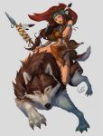 Native American Girl with a Wolf by CFTablet