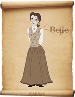 Western Disney - Belle - Sepia Version by daKisha