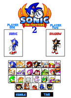 Sonic the Fighters 2 Select Screen by sonamy-666
