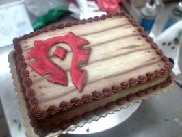 WoW Horde Crate Cake by Erisana