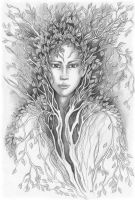 Portrait of Dryad by jankolas