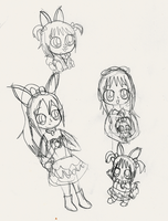 Bunny Style Sketches by Bokeol