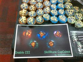 Diablo III Mini Cupcakes Midnight Release by wickedwitchinc