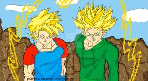 Teen Goten and Trunks Super Sayan by celesten