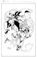 Titans Girls inked by madman1