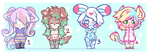 4 Cute Furry Adopts Auction [CLOSED] by 666phantomoftheopera