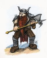 Dwarf Warrior by jmrjohn19
