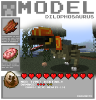 Minecraft - Dilophosaurus by Dragonith