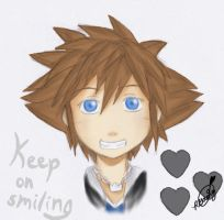 Keep on smiling by roxas-hagaren