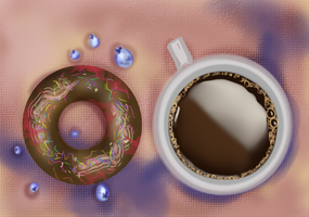 Donut Coffee by Seraphoid
