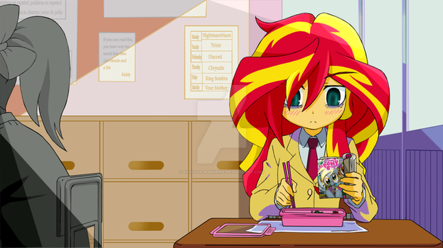 Isn't Sunset Shimmer Fault That She Is Not Popular by kiddysa-bunnpire