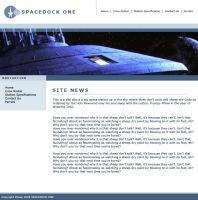 Spacedock One Website by Hayter