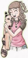 Renata and her Digimon by Mistery-forever